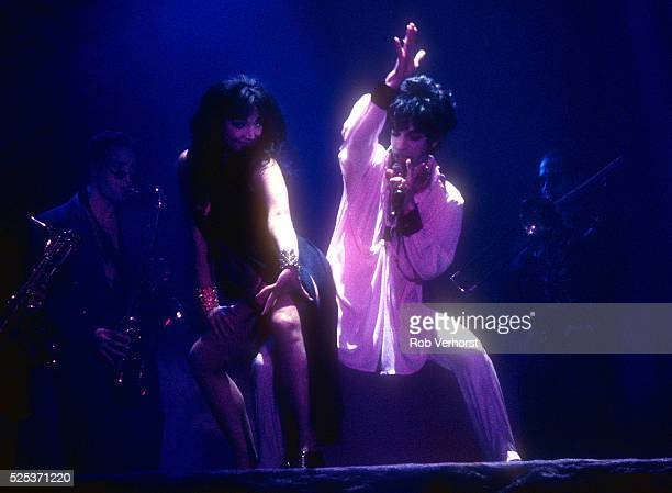 Prince and Mayte Garcia perform on stage at Brabanthallen Den Bosch Netherlands 9th August 1993