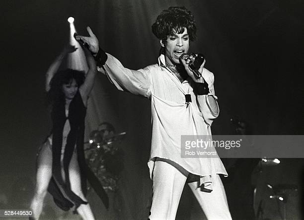 Prince and Mayte perform on stage on the Act II Tour Brabant hallen Den Bosch Netherlands 9th August 1993