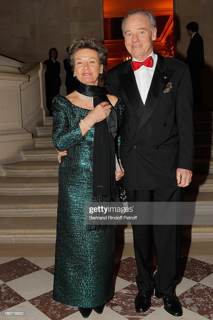 Prince and Princess Constantin Mourousy attend the gala dinner of Professor David Khayat's association 'AVEC', at Chateau de Versailles on February 4, 2013 in Versailles, France.