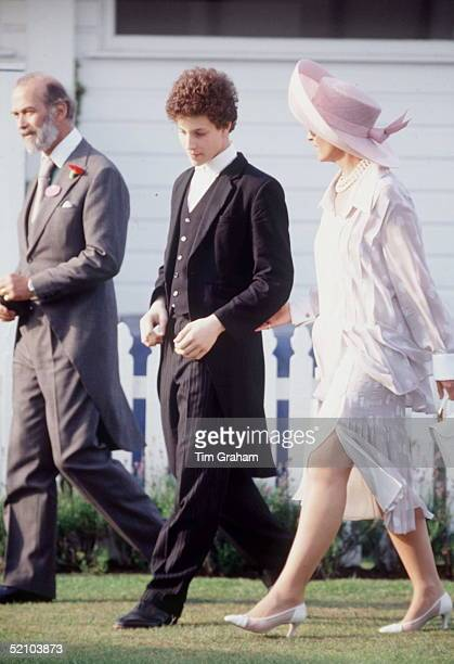 Prince And Princess Michael Of Kent And Their Son Lord Frederick Windsor At The Eton Tea Party In Windsor