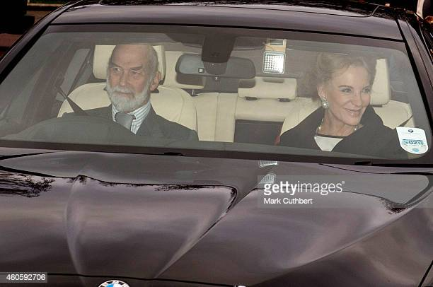 Prince and Princess Michael of Kent attend a Christmas Lunch at Buckingham Palace on December 17 2014 in London England