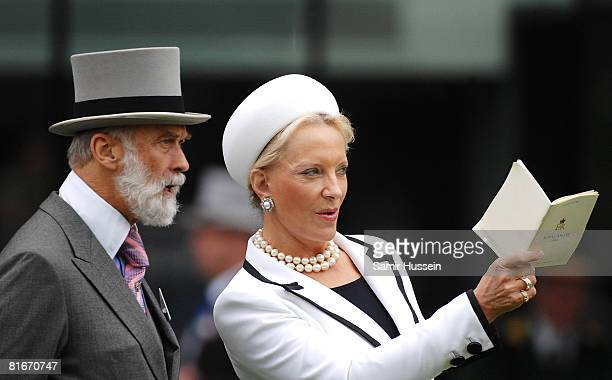 Prince and Princess Michael of Kent attend day 4 of Royal Ascot on June 20 2008 in Ascot England