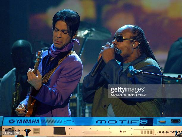 Prince and Stevie Wonder perform 'Through the Fire'