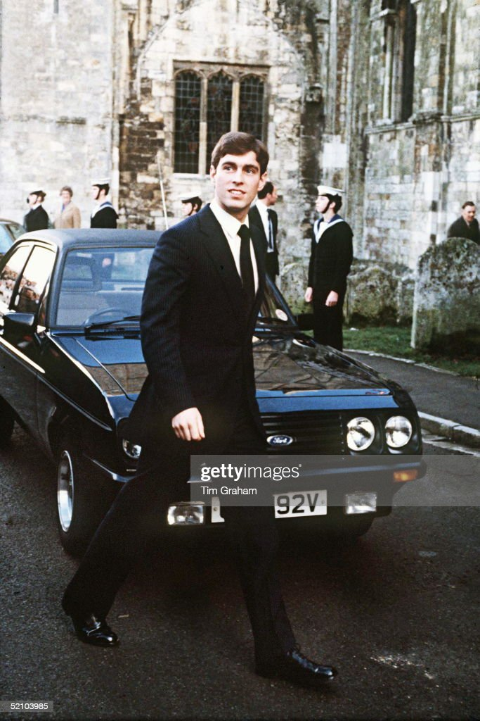 Prince Andrew Aged 19 Arriving At Romsey Abbey To Attend A Memorial Service For Lord Mountbatten.