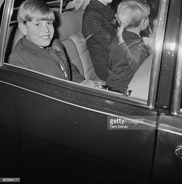 Prince Andrew and Prince Edward with their governess Lavinia Keppel at the Children's Book Show in Westminster London 7th November 1969