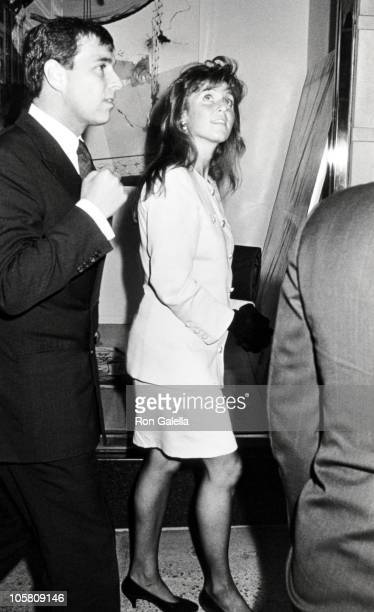 Prince Andrew and Sarah Ferguson during Grand Opening Reception For Jaguar Cars Inc of Mahwah New Jersey at Barney's in New York City New York United...