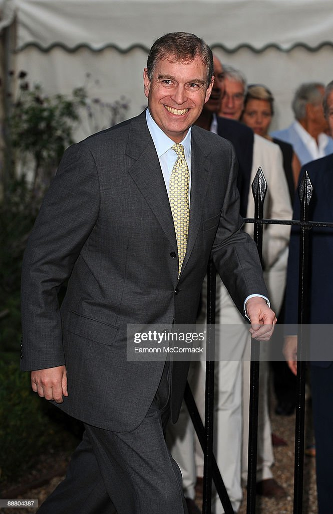 Prince Andrew arrives at Sir David Frost's Summer Party on July 2, 2009 in London, England.