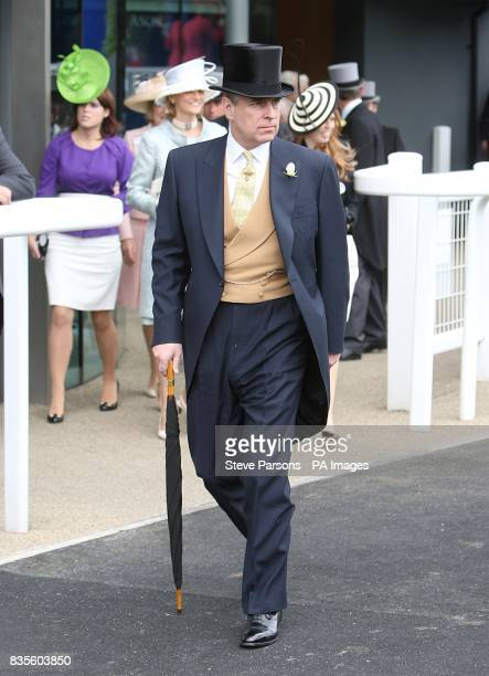 Prince Andrew at Ascot Racecourse Berkshire