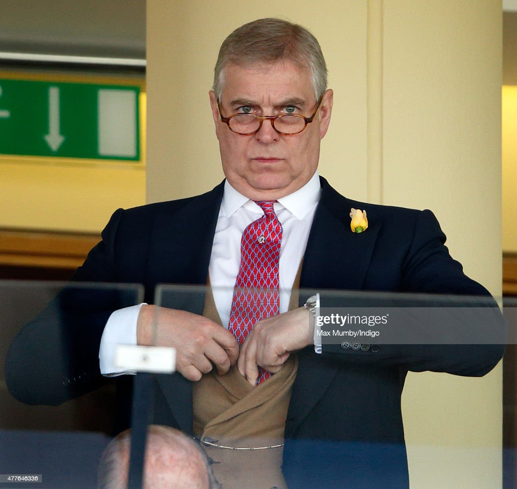 Prince Andrew, Duke of York attends day 3, Ladies Day, of Royal Ascot at Ascot Racecourse on June 18, 2015 in Ascot, England.