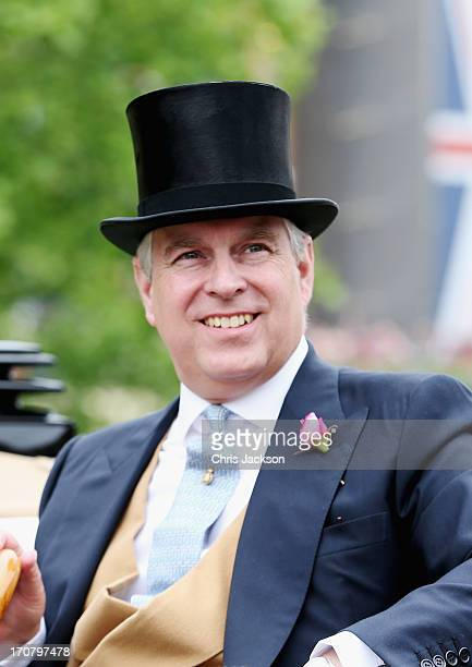 Prince Andrew Duke of York attends day one of Royal Ascot at Ascot Racecourse on June 18 2013 in Ascot England