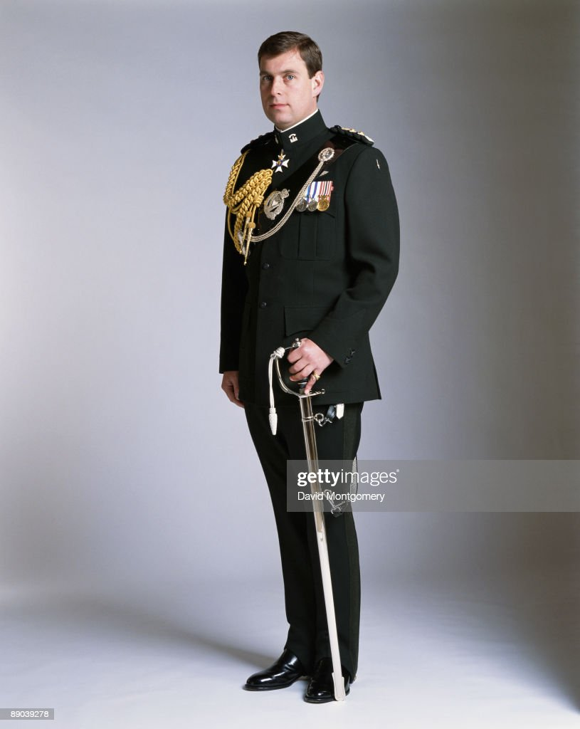 Prince Andrew, Duke of York, in military uniform, circa 1995.