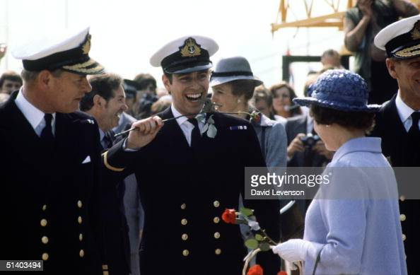 Prince Andrew returns from the Falklands War on September 17 on board HMS Invincible He arrived with the rest of the crew in Portsmouth Harbour...