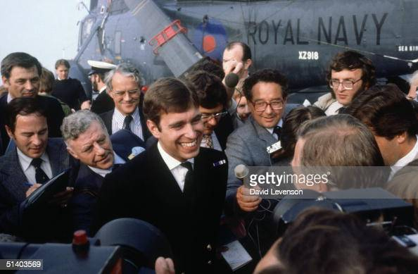 Prince Andrew returns from the...