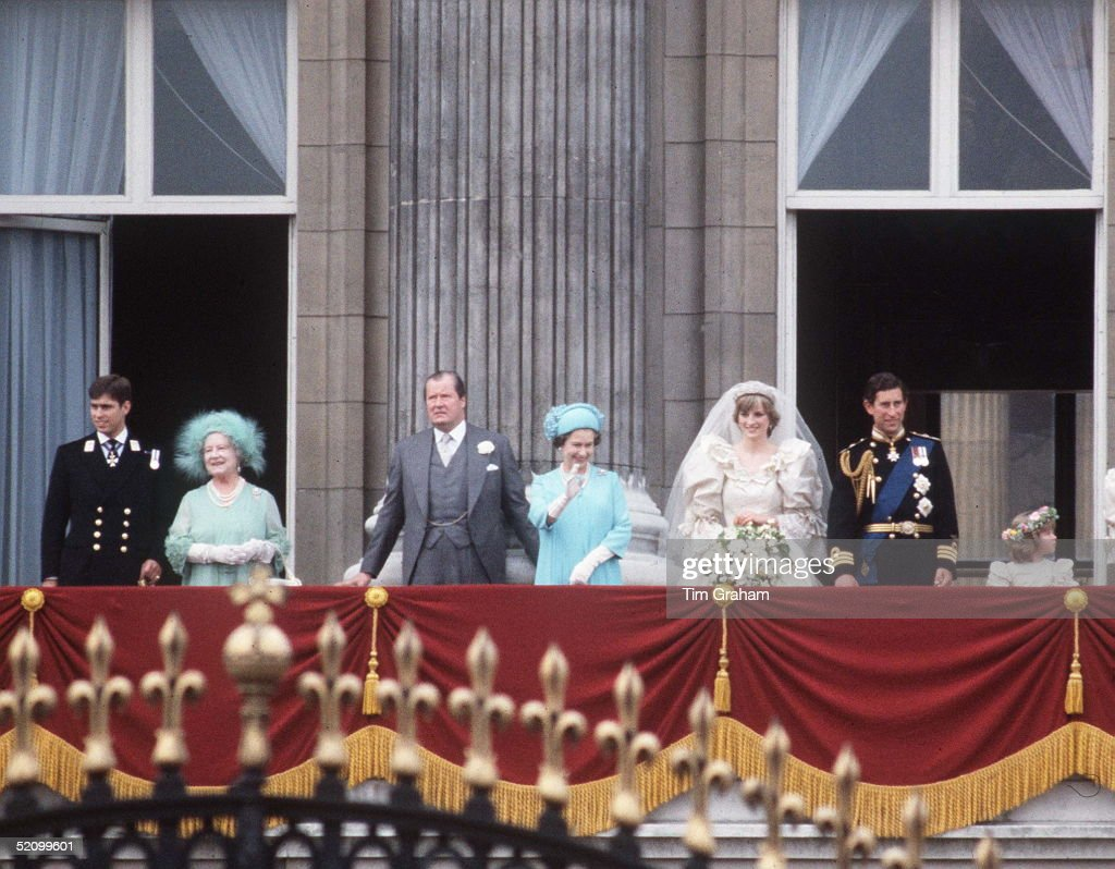 Elizabeth ii getty images for Queens wedding balcony