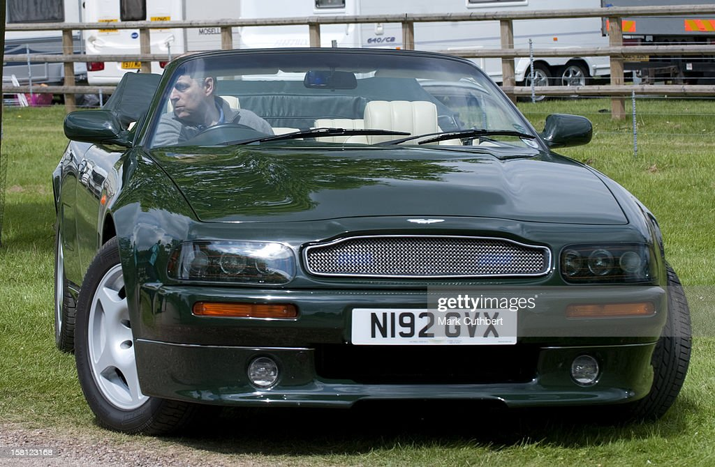 Prince Andrew With His Aston Martin At The Royal Windsor Horse Show In Home Park