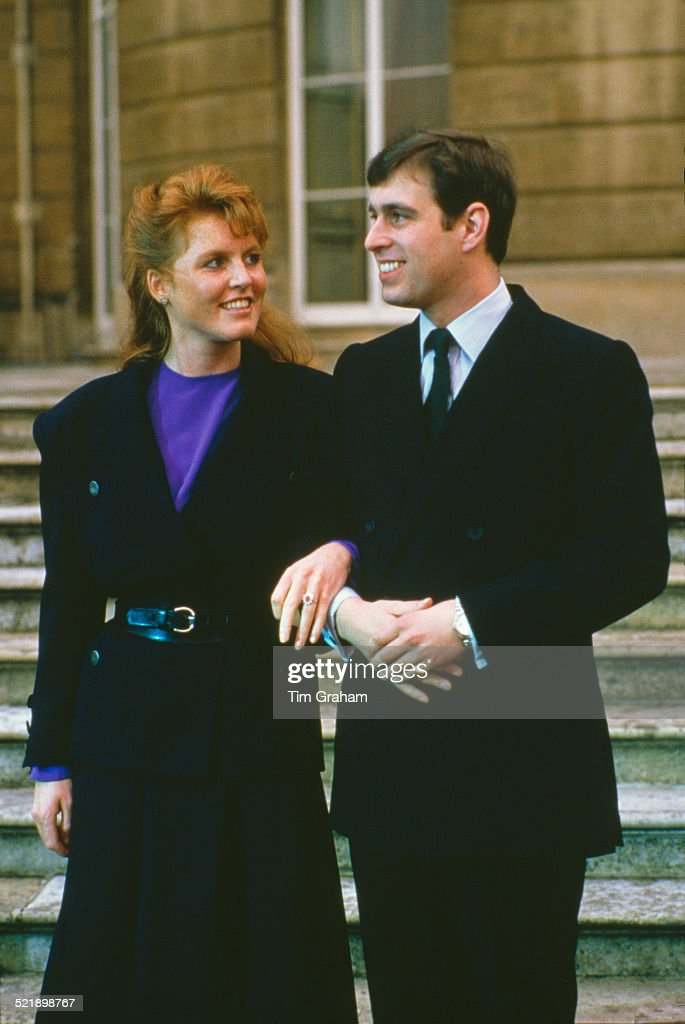 <a gi-track='captionPersonalityLinkClicked' href=/galleries/search?phrase=Prince+Andrew+-+Duke+of+York&family=editorial&specificpeople=160175 ng-click='$event.stopPropagation()'>Prince Andrew</a> with <a gi-track='captionPersonalityLinkClicked' href=/galleries/search?phrase=Sarah+Ferguson+-+Duchess+of+York&family=editorial&specificpeople=160596 ng-click='$event.stopPropagation()'>Sarah Ferguson</a> at Buckingham Palace after the announcement of their engagement, London, 17th March 1986.