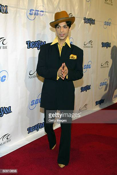 Prince arrives at the 7th Annual Tiger Woods Tiger Jam on May 29 2004 in Las Vegas Nevada