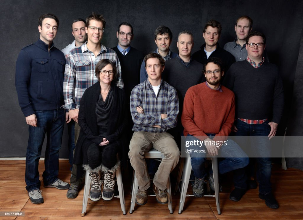 'Prince Avalanche' cast and crew pose for a portrait during the 2013 Sundance Film Festival at the WireImage Portrait Studio at Village At The Lift on January 20, 2013 in Park City, Utah.