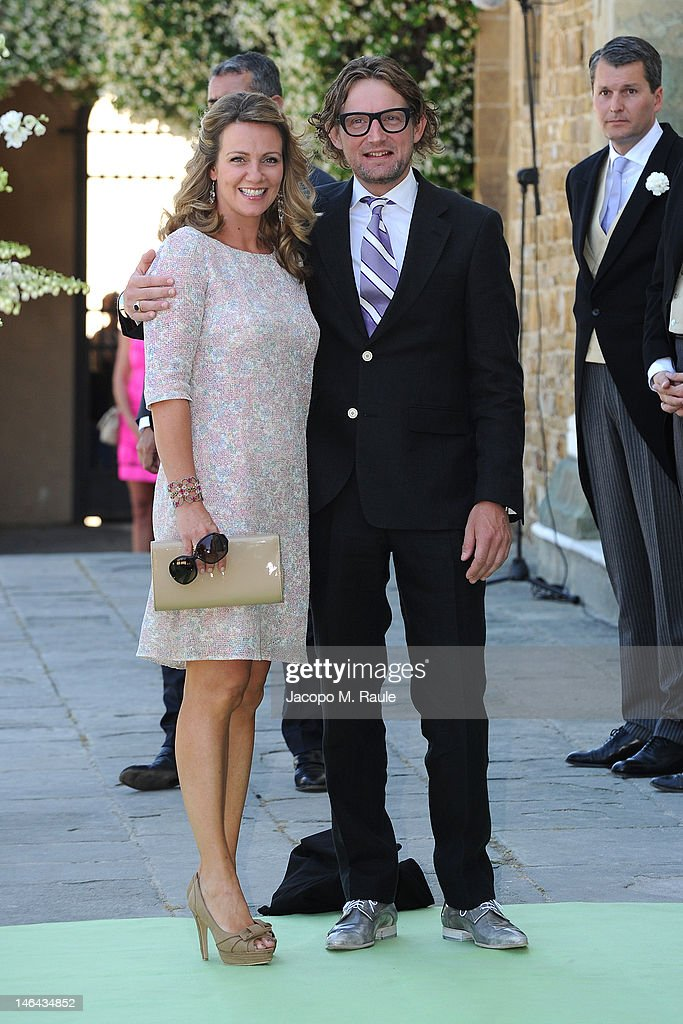 Prince Bernhard and Princess Annette of the Netherlands arrive for the Princess Carolina Church Wedding With Mr Albert Brenninkmeijer at Basilica di San Miniato al Monte on June 16, 2012 in Florence, Italy.