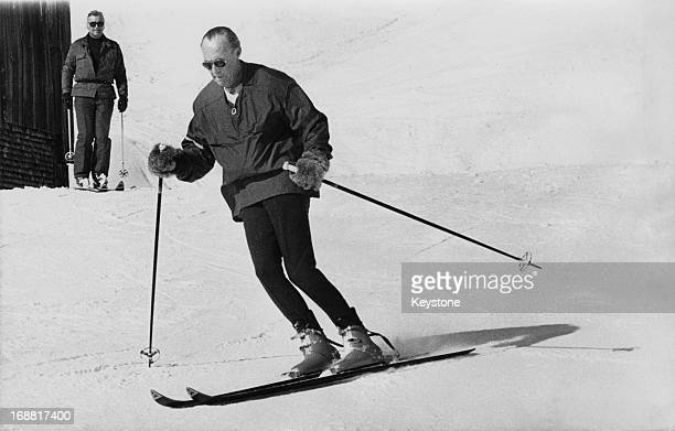 Prince Bernhard of the Netherlands enjoying a ski run during a skiing holiday in Lech Austria 19th February 1976