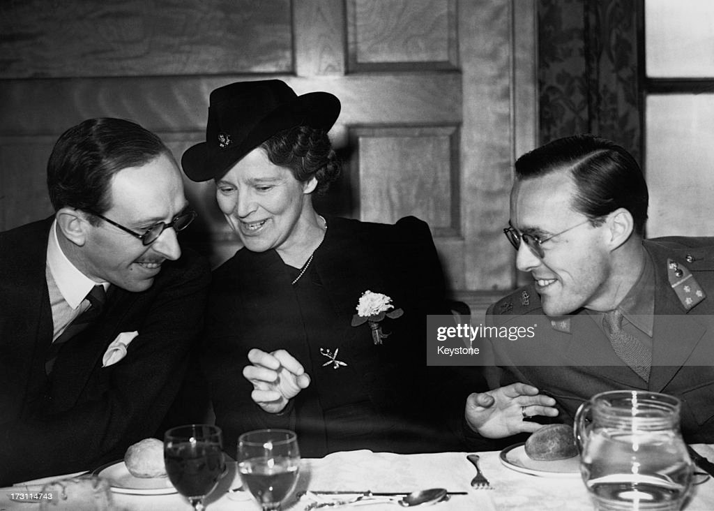 Prince Bernhard of the Netherlands with Lady Sykes and British politician Robert GascoyneCecil 5th Marquess of Salisbury and Secretary of State for...