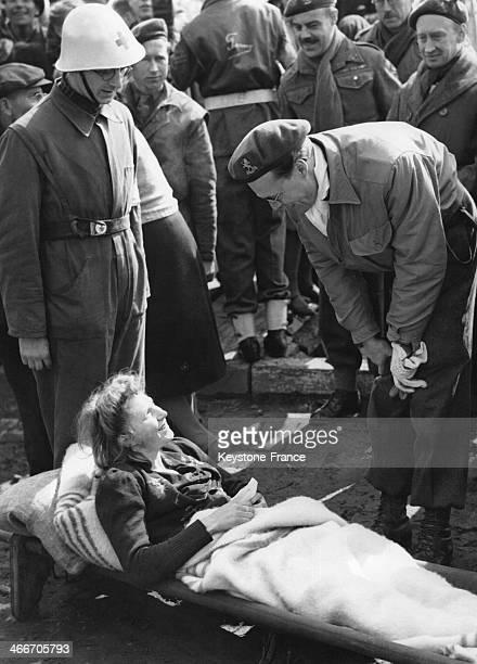 Prince Bernhard visiting a military camp circa 1950