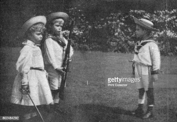 Prince Bertie of York drilling his brother and sister' 1900 From Black White Budget Vol III [The Black and White Publishing Company J P Monckton...