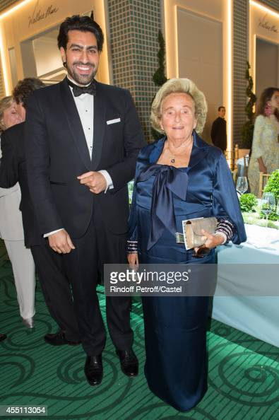Prince Bin Abdulaziz Bin Salman Al Saud and Bernadette Chirac attend the 27th 'Biennale des Antiquaires' Pre Opening at Le Grand Palais on September...