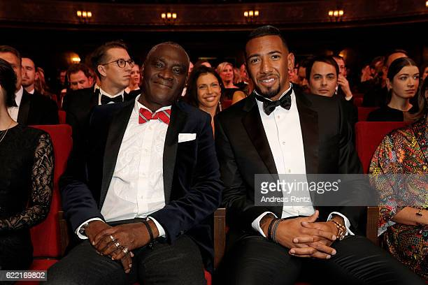 Prince Boateng and Jerome Boateng are seen ahead of the GQ Men of the year Award 2016 show at Komische Oper on November 10 2016 in Berlin Germany