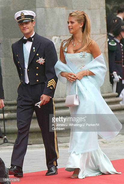 Prince Carl Philip And Princess Madeleine Of Sweden At The Wedding Of Princess Martha Louise Of Norway And Ari Behn In Trondheim