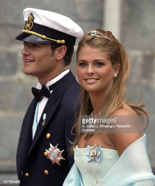 Prince Carl Philip And Princess Madeleine Of Swedenm At The Wedding Of Princess Martha Louise Of Norway And Ari Behn In Trondheim