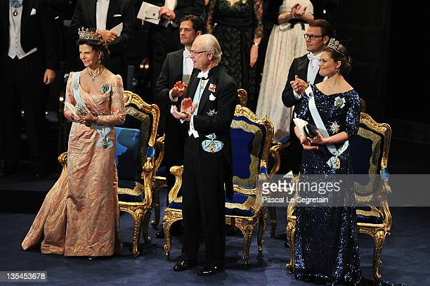Prince Carl Philip of Sweden and Prince Daniel of Sweden and Queen Silvia of Sweden Crown Princess Victoria of Sweden and King Carl XVI Gustaf of...
