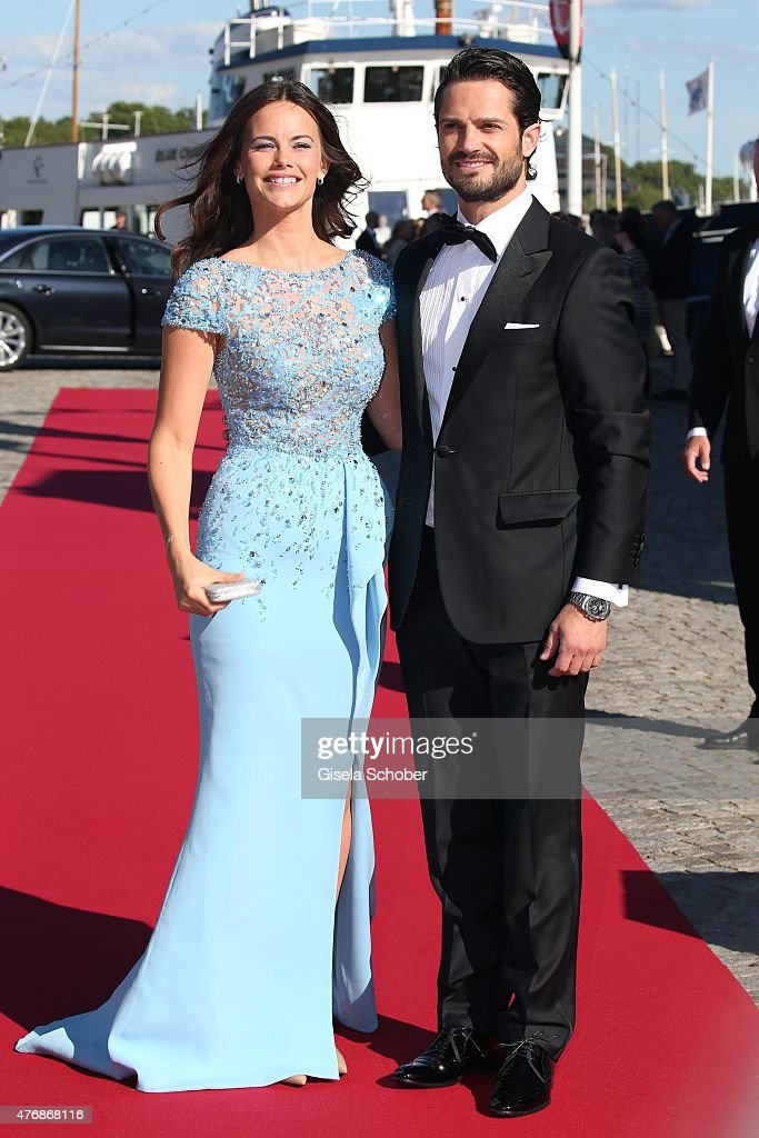 Prince Carl Philip of Sweden and Sofia Hellqvist arrive for the private Pre-Wedding Dinner of Swedish Prince Carl Philip and Sofia Hellqvist on June 12, 2015 in Stockholm, Sweden.