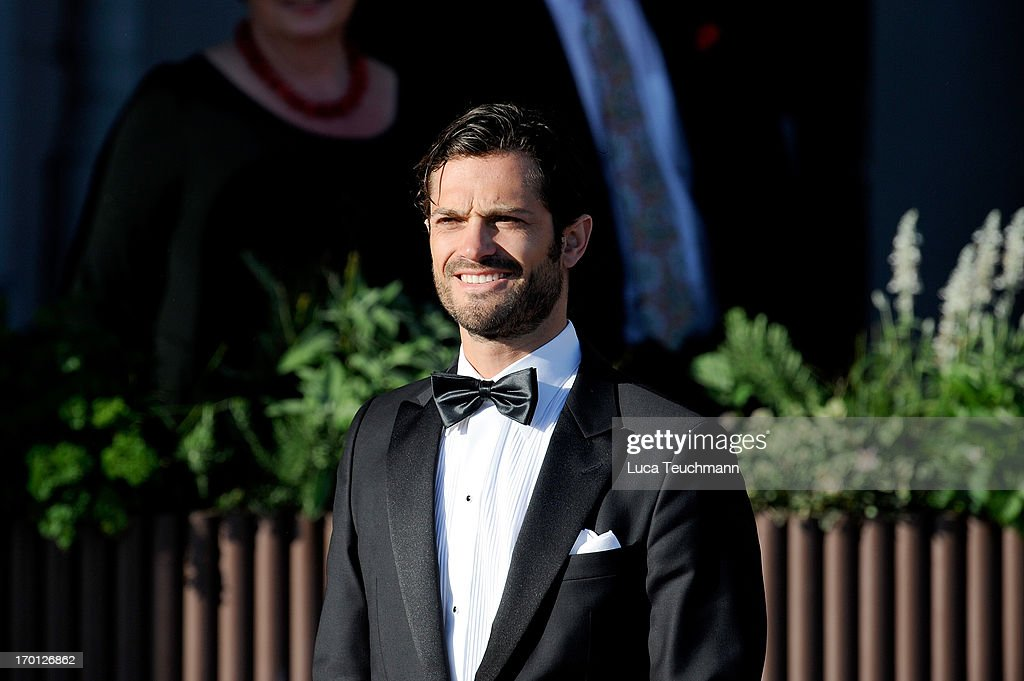 Prince Carl Philip of Sweden attends a private dinner on the eve of the wedding of Princess Madeleine and Christopher O'Neill hosted by King Carl XVI Gustaf and Queen Silvia at The Grand Hotel on June 7, 2013 in Stockholm, Sweden.