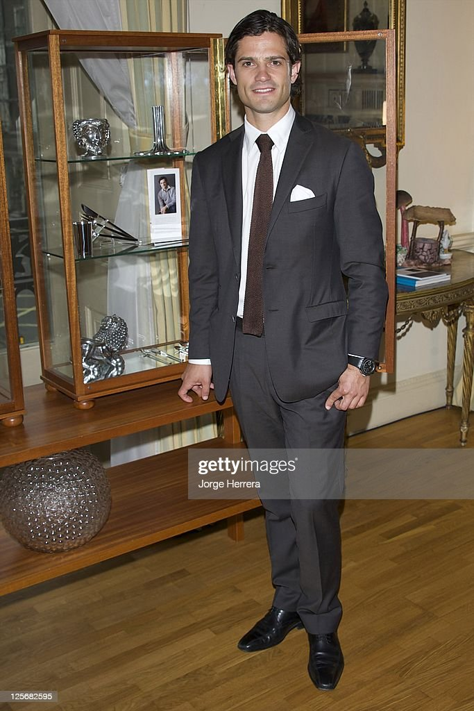 Prince Carl Philip of Sweden attends the HEMMA Swedish Design Goes London - Private View, at the Swedish Ambassador's Residence on September 20, 2011 in London, England.