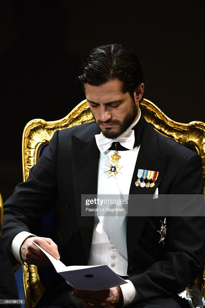 <a gi-track='captionPersonalityLinkClicked' href=/galleries/search?phrase=Prince+Carl+Philip+of+Sweden&family=editorial&specificpeople=160179 ng-click='$event.stopPropagation()'>Prince Carl Philip of Sweden</a> attends the Nobel Prize Awards Ceremony at Concert Hall on December 10, 2013 in Stockholm, Sweden.