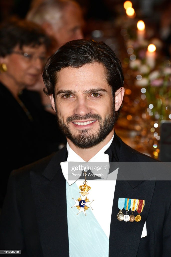 Prince Carl Philip of Sweden attends the Nobel Prize Banquet after the 2013 Nobel Prize Awards Ceremony at City Hall on December 10, 2013 in Stockholm, Sweden.