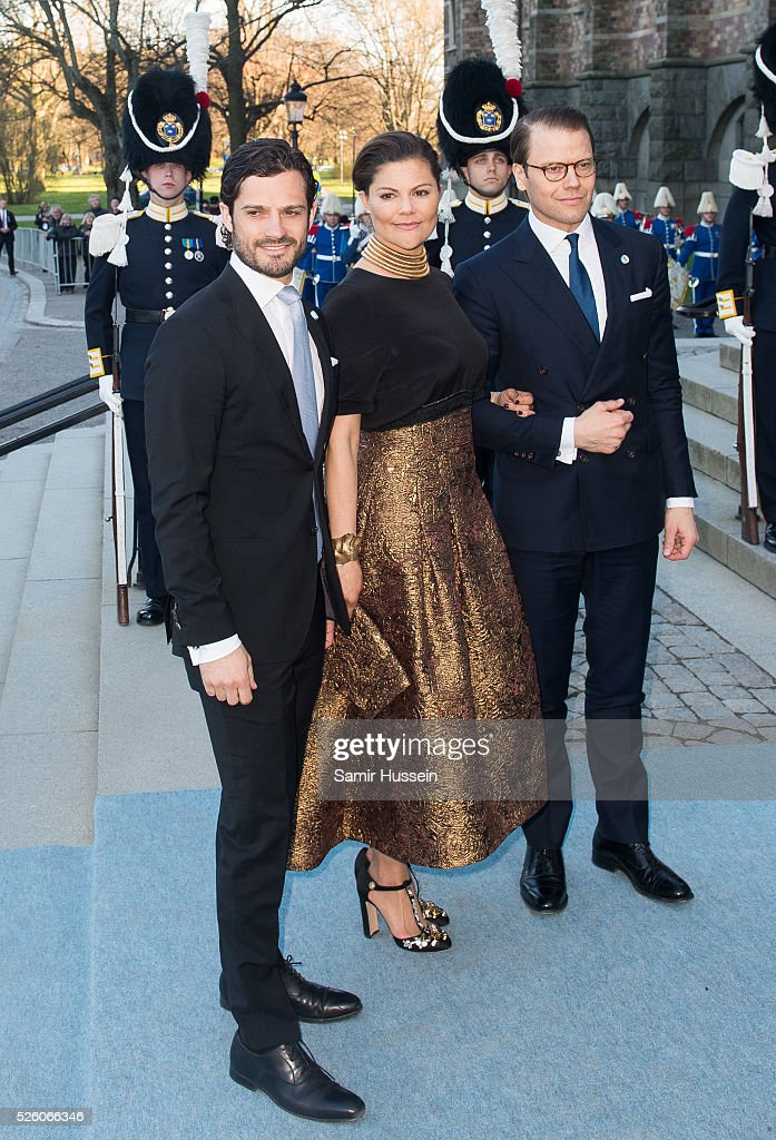 <a gi-track='captionPersonalityLinkClicked' href=/galleries/search?phrase=Prince+Carl+Philip+of+Sweden&family=editorial&specificpeople=160179 ng-click='$event.stopPropagation()'>Prince Carl Philip of Sweden</a>, <a gi-track='captionPersonalityLinkClicked' href=/galleries/search?phrase=Crown+Princess+Victoria+of+Sweden&family=editorial&specificpeople=160266 ng-click='$event.stopPropagation()'>Crown Princess Victoria of Sweden</a> and Prince Daniel of Sweden arrive at the Nordic Museum to attend a concert of the Royal Swedish Opera and Stockholm Concert Hall to celebrate the 70th birthday of King Carl Gustaf of Sweden on April 29, 2016 in Stockholm, Sweden.
