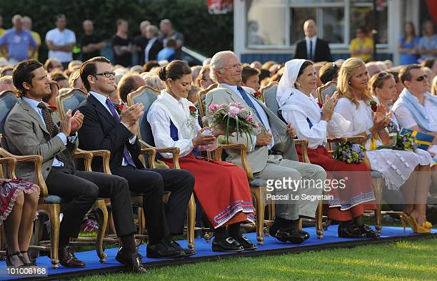 Prince Carl Philip of Sweden Daniel Westling Crown Princess Victoria of Sweden King Carl XVI Gustav of Sweden Queen Sofia of Sweden and Princess...