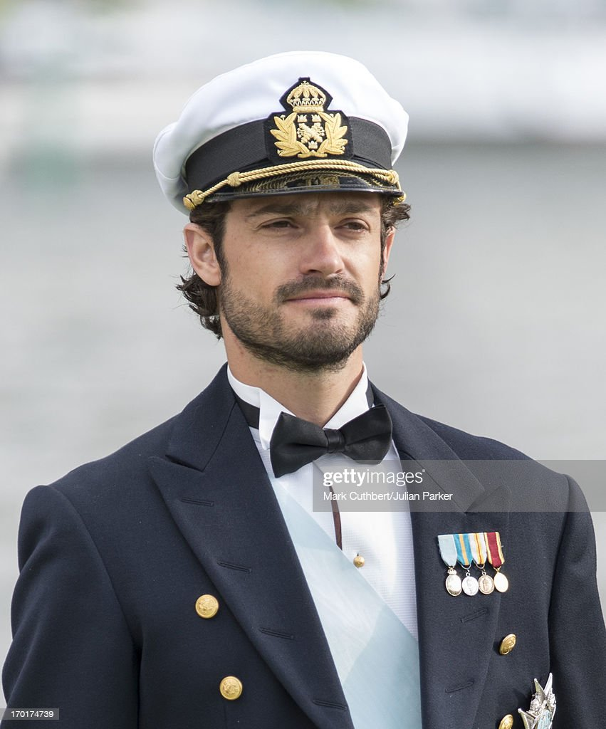 Prince Carl Philip of Sweden leaving for Drottningholm Palace after the wedding of Princess Madeleine of Sweden and Christopher O'Neill hosted by King Carl Gustaf and Queen Silvia at The Royal Palace on June 8, 2013 in Stockholm, Sweden.