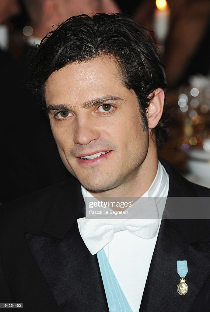 Prince Carl Philip of Sweden poses during the Nobel Foundation Prize Banquet 2009 at the Town Hall on December 10 2009 in Stockholm Sweden