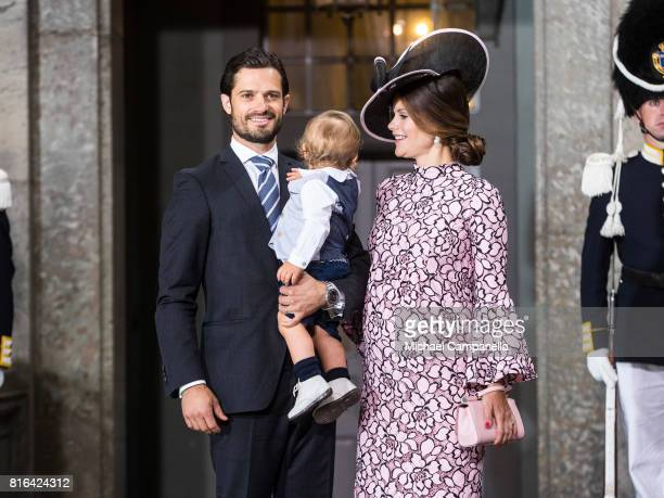 Prince Carl Philip of Sweden Prince Alexander of Sweden and Princess Sofia of Sweden depart after a thanksgiving service on the occasion of The Crown...