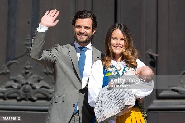 Prince Carl Philip of Sweden Princess Sofia of Sweden and son Prince Alexander of Sweden attend the National Day Celebrations at The Royal Palace in...