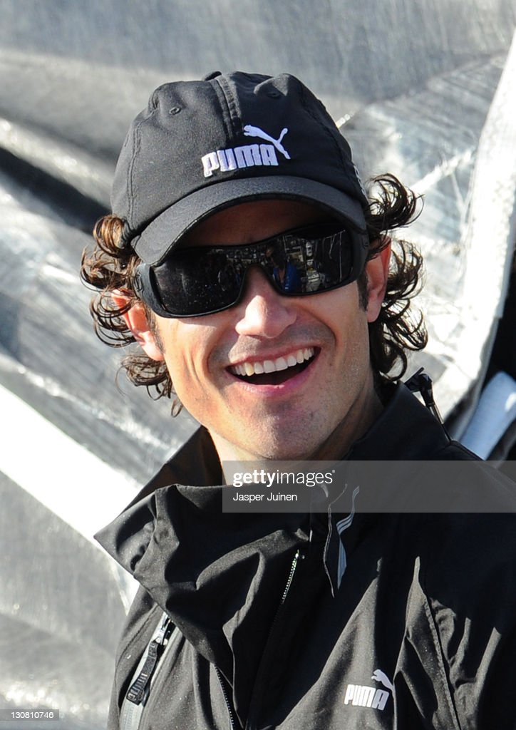 Prince Carl Philip of Sweden smiles on board the Puma Ocean Racing powered by BERG Propulsion yacht, skippered by Ken Read of Canada, during the first Pro-Am Race of the Volvo Ocean Race 2011-12 on October 30, 2011 in Alicante, Spain.