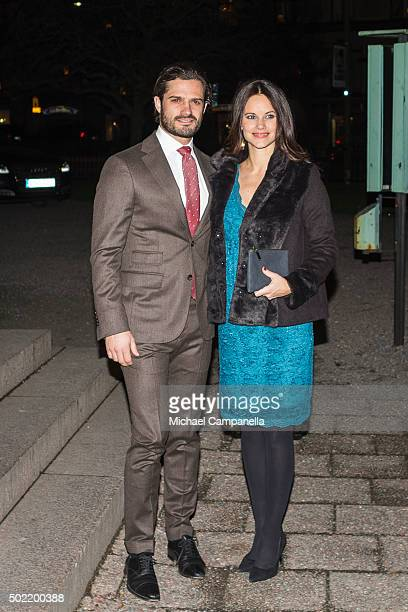 Prince Carl Phillip and Princess Sofia of Sweden attend 'Christmas in Vasastan' concert at Gustav Vasa church on December 21 2015 in Stockholm Sweden