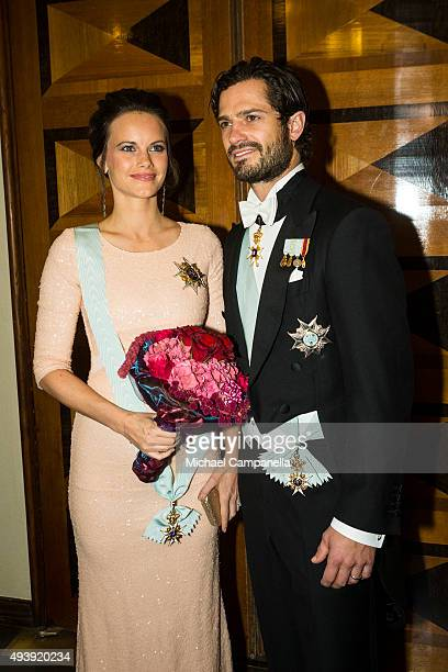Prince Carl Phillip and Princess Sofia of Sweden attend The Royal Swedish Academy of Engineering Sciences' Formal Gathering on October 23rd 2015 in...