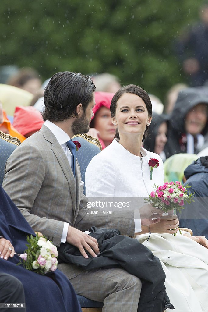 Prince Carl Phillip of Sweden and Sofia Hellqvist attend a concert in Borgholm, to celebrate the 37th Birthday of Crown Princess Victoria of Sweden, on July 14, 2014 in Oland, Sweden.