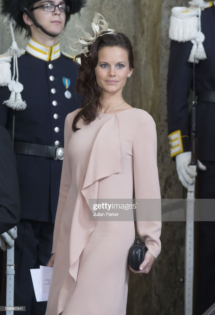 Prince Carl Phillips Girlfriend, Sofia Hellqvist After The Christening Of Princess Estelle At The Royal Chapel, In The Royal Palace In Stockholm.