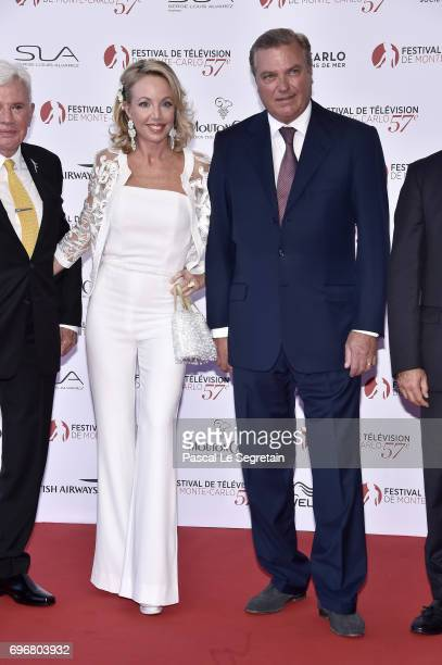 Prince Carlo of BourbonTwo Sicilies Duke of Castro and his wife Princess Camilla Duchess of Castro attends the 57th Monte Carlo TV Festival Opening...