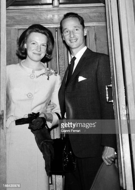 Prince Carlos Hugo de Borbon Parma former Carlist pretender to the Spanish crown and Princess Irene of the Netherlands Madrid Spain